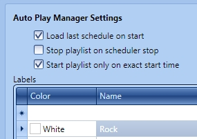 Auto Play Manager Settings
